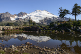 North Cascades  Washington Mt Baker and Reflection  on Park Butte