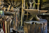 USA  Virginia  Mabry Mill Tools in Blacksmith Shop
