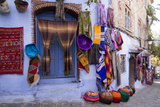 Souvenir Shops in the Kasbah  Chefchaouen  Rif Mountains  Morocco