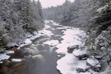 West Virginia  Blackwater Falls SP Stream in Winter Landscape