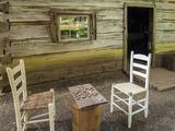 USA  Virginia  Mabry Mill Checkers Board on Barrel