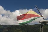 Seychelles  Mahe  St Anne Marine National Park Seychelles Flag
