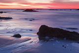 Dawn over the Atlantic Ocean in Rye  New Hampshire Wallis Sands SP