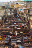 Fez  Morocco  Old Tannery Called Chouara Tannery