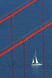 California  San Francisco  Golden Gate Bridge and Yacht
