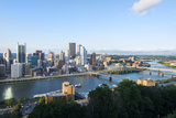 Pittsburgh  Pennsylvania  Downtown City and Rivers at Golden Triangle