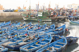 Morocco  Essaouira Fishing Boats in Essaouira Harbor