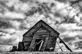 Washington Abandoned Leaning Schoolhouse in Palouse Farm Country