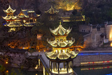 Zhenyuan Illuminated at Dusk  Zhenyuan  Guizhou  China