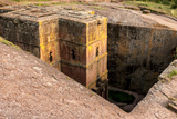 Saint George Church Chiseled Out of Bed Rock Ethiopia  Africa