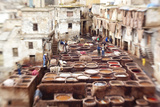 The Tannery in Fez  Morocco