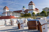 Beach Basket Seats in Front of Health Spa  Binz  Rygen Island  Germany
