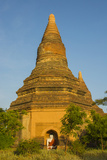 Myanmar Bagan Red Brick Temple Glows in the Late Afternoon Light