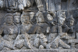 Stone Carving at Borobudur  UNESCO  Java  Indonesia