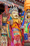 Masked Dancers at Wachuk Tibetan Buddhist Monastery  Sichuan  China