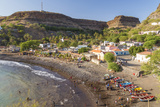 Bay  Beach and Cidade Velha Village  Santiago Island  Cape Verde