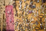 Keys on Display at Marche Aux Puces de Saint-Ouen  Paris France