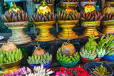 Myanmar Yangon Botataung Pagoda Offerings of Fruit for Sale