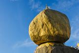 Kyaiktiyo Pagoda on a Granite Boulder  Mon State  Myanmar