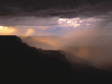 Rainstorm over the Grand Canyon at Sunset  Grand Canyon NP  Arizona