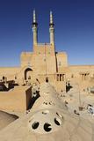 Iran  Yazd  Zoroastrian Complex of Amir Chakma with Bazaar Roofs