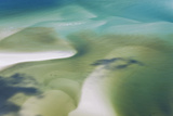 Sea and Fresh Water Covering Beach  Hill Inlet  Queensland  Australia