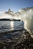 Canada  Nunavut Territory  Sunset Lights Melting Iceberg in Hudson Bay