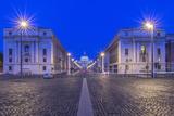 Italy  Rome  Via Della Conciliazione and St Peter's Basilica at Dawn