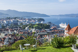 Beautiful Overlook of the City of Bergen  Norway