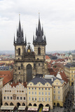 Czech Republic  Bohemia  Prague Old Town Square with Tyn Cathedral