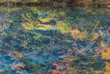 Autumn Reflections and Lake  Jiuzhaigou NP  Sichuan Province  China