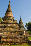 Myanmar Mandalay Inwa Red Brick Stupa