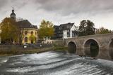 Germany  Hesse  Wetzlar  Alte Lahnbrucke Bridge  Lahn River