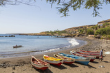 Fishing Boats on Beach  Cidade Velha  Santiago Island  Cape Verde