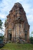Cambodia Bakong Temple  Near Siem Reap Shiva Shrine
