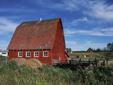 Canada  Alberta  Red Barn