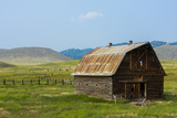 Butte  Montana Old Worn Barn in Farm County