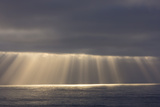 Rays from the Clouds over the Pacific Ocean  Santa Cruz  California