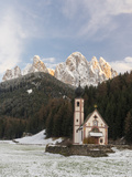 The Church St John in Ranui  Geisler  Alto Adige  South Tyrol  Italy