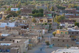 Oasis Town of Al Qasr in Western Desert of Egypt with Old Town