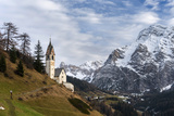 Chapel Barbarakapelle in the Village of Wengen  South Tyrol Italy