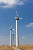 Wind Turbines  on Wind Farm  Mid-Wales  Wales  UK