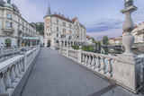 Slovenia  Ljubljana  Triple Bridge at Dawn