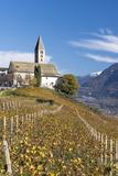 Baroque Church of Village Kurtatsch  Unterlandes  South Tyrol  Italy