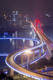 China  Traffic Lights on Caiyuanba Bridge Spanning Yangtze River