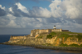 Sunset over Fortress El Morro  Old Town  San Juan  Puerto Rico