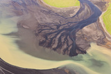 River Estuary Colored by Glacial Melt  Hvammur  Sw Iceland