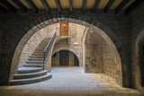Spain  Barcelona  Temple Roma d'August  Staircase