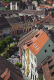 Romania  Transylvania  Sighisoara  Old Town  Rooftop View