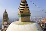 Swayambunath Stupa or Monkey Temple  Kathmandu  Nepal